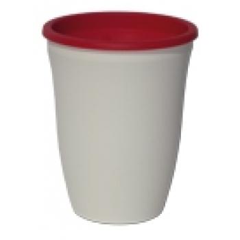 Kunststof vaas in 4 kleuren