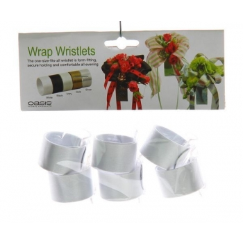 Click polscorsage wit (oasis wrap wristlet)