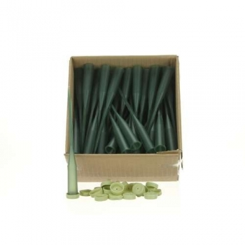 Steekbuis 15 cm groen met dop