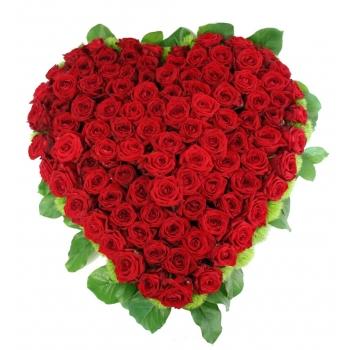 Rozenhart groot van rode red Naomi Rozen extra luxe