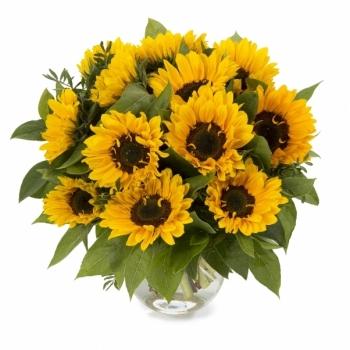 5 Zonnebloemen