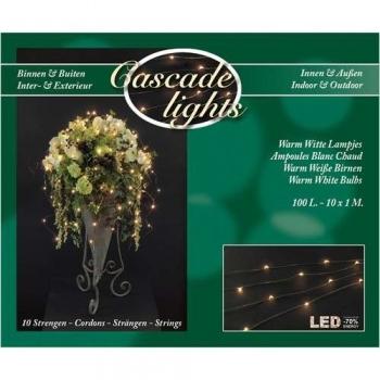 Cascade verlichting 100 LED lampjes warm wit