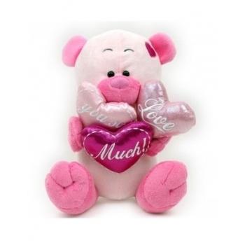 Knuffelbeer groot met ballonnen Love you so Much