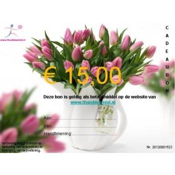 Cadeaubon om iemand te verrassen van € 15