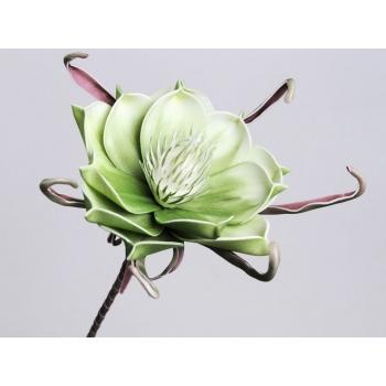 Foam bloem groen wit Ø 20 cm