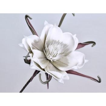 Foam bloem wit grijs Ø 20 cm