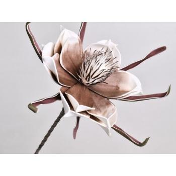 Foam bloem wit mocca Ø 20 cm