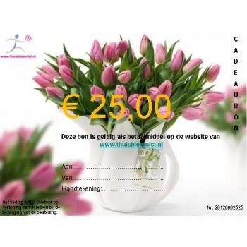 Cadeaubon om iemand te verrassen van € 25