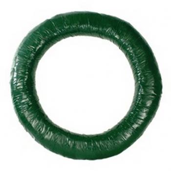 Stro krans 60 cm met groen band