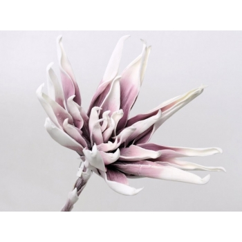 Foam bloem wit lila Ø 35 cm