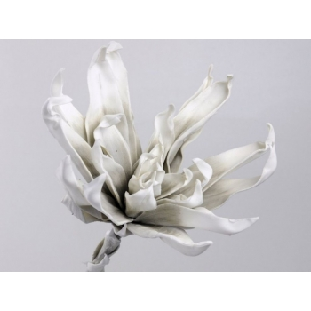Foam bloem wit grijs Ø 35 cm