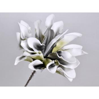 Foam bloem Dracena wit antraciet Ø 24 cm