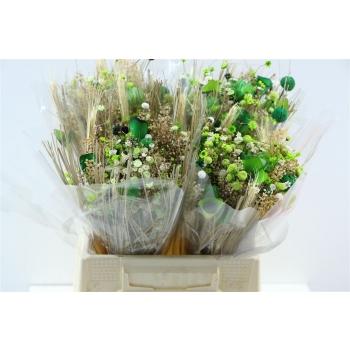 Gedroogd boeket Fanasia groen