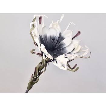 Foam bloem wit antraciet Ø 35 cm